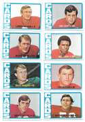 1972 Topps Football Team Set (1-263) - ST LOUIS CARDINALS