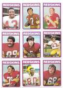 1972 Topps Football Team Set (1-263) - WASHINGTON REDSKINS
