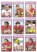 1972 Topps Football Team Set (1-263) - WASHINGTON REDSKINS