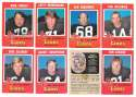 1971 O-Pee-Chee (OPC) CFL Near Team Set - BC (British Columbia) Lions missing 7 cards