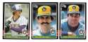 1985 DONRUSS - MILWAUKEE BREWERS Team Set
