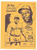 1977 Bob Parker More Baseball Cartoons (Yellow) - 1 All-Time Home Run Specialist Aaron Ruth