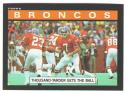 1985 Topps Football Team Set - DENVER BRONCOS Elway is creased