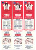 1978 Pepsi-Cola Superstar Tab - CINCINNATI REDS Team Set