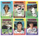 1975 Topps EX-EX+ SAN FRANCISCO GIANTS Team Set missing #216 Team Card and #606