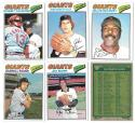 1977 TOPPS VG+EX Checklist Marked - SAN FRANCISCO GIANTS Team Set