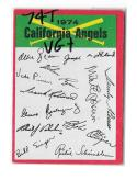 1974 Topps Team Checklist Card VG+ Condition - CALIFORNIA ANGELS