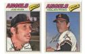 1977 Topps Cloth Stickers - CALIFORNIA ANGELS Team Set w/ Nolan Ryan