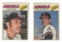 1977 Topps Cloth Stickers - CALIFORNIA ANGELS Team set both cards miscut