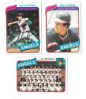 1980 Topps (VG+ Condition) CALIFORNIA ANGELS Team set