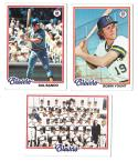 1978 Topps VG+EX Condition MILWAUKEE BREWERS Team Set