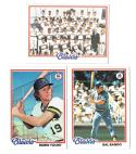 1978 Topps MILWAUKEE BREWERS Team Set