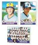 1979 Topps (EX+ condition) - MILWAUKEE BREWERS Team Set