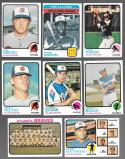 1973 Topps EX+ ATLANTA BRAVES Team Set