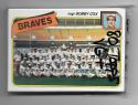 1980 Topps (VG+ Condition) ATLANTA BRAVES Team Set