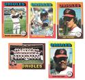 1975 Topps EX+ BALTIMORE ORIOLES Team Set