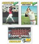1977 TOPPS VG+EX Checklist Marked - BALTIMORE ORIOLES Team Set
