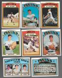 1972 TOPPS EX+ MINNESOTA TWINS Near Team Set missing 695 Carew