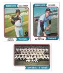 1974 Topps - MINNESOTA TWINS Near Team Set VG+EX Cond missing Carew
