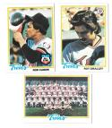 1978 Topps MINNESOTA TWINS Team Set