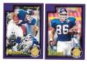 1999 Score Supplemental Football Team Set - NEW YORK GIANTS