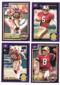 1999 Score Supplemental Football Team Set - SAN FRANCISCO 49ERS