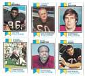 1973 Topps Football Team Set (EX+ Condition) (B) - ATLANTA FALCONS