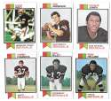 1973 Topps Football Team Set (EX+ Condition) (B) - CINCINNATI BENGALS