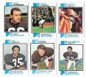 1973 Topps Football Team Set (EX+ Condition) (B) - CLEVELAND BROWNS