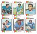 1973 Topps Football Team Set (EX+ Condition) (B) - DETROIT LIONS