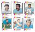1973 Topps Football Team Set (EX+ Condition) (B) - HOUSTON OILERS