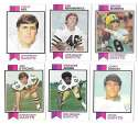 1973 Topps Football Team Set (EX+ Condition) (B) - NEW ORLEANS SAINTS