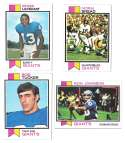 1973 Topps Football Team Set (EX+ Condition) (B) - NEW YORK GIANTS
