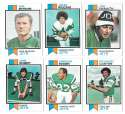 1973 Topps Football Team Set (EX+ Condition) (B) - NEW YORK JETS