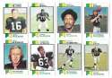 1973 Topps Football Team Set (EX+ Condition) (B) - OAKLAND RAIDERS