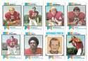 1973 Topps Football Team Set (EX+ Condition) (B) - ST LOUIS CARDINALS