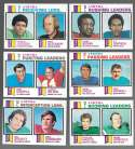 1973 Topps Football - '72 League Leaders 6 card subset (EX+ Condition) (B)