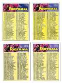1973 Topps Football - Unmarked Checklist (EX+ Condition) (B)