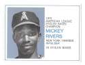 1975 Greyhound Heroes of the Base Paths - CALIFORNIA ANGELS - Mickey Rivers
