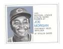 1975 Greyhound Heroes of the Base Paths - CINCINNATI REDS Joe Morgan