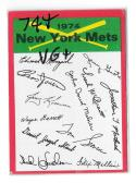 1974 Topps Team Checklist Card VG+ Condition - NEW YORK METS