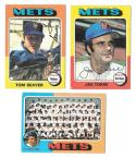 1975 Topps VG Condition - NEW YORK METS Team Set checklist marked