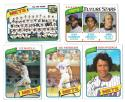 1980 Topps (VG+ Condition) NEW YORK METS Team Set checklist marked