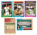 1975 O-Pee-Chee (OPC) - SAN DIEGO PADRES Team Set EX+ Condition Winfield OC, Checklist marked