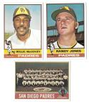 1976 Topps EX+ SAN DIEGO PADRES Team Set w/o Winfield