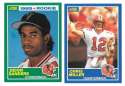 1989 Score Football Team Set - ATLANTA FALCONS w/ Deion Sanders RC