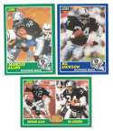 1989 Score Football Team Set - LOS ANGELES / OAKLAND RAIDERS w/ Tim