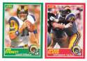 1989 Score Football Team Set - LOS ANGELES / ST. LOUIS RAMS
