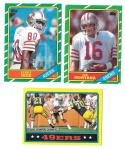 1986 Topps Football Team Set - SAN FRANCISCO 49ERS w/ JERRY RICE RC (C)