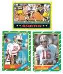 1986 Topps Football Team Set - SAN FRANCISCO 49ERS w/ JERRY RICE RC (B)